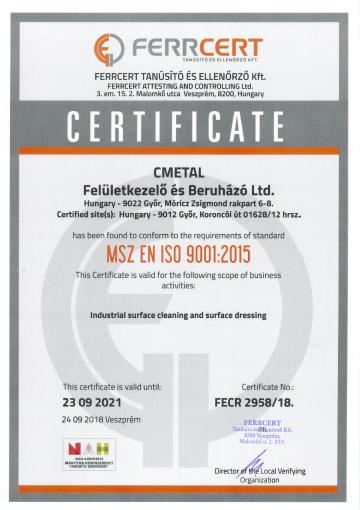 MSZ EN ISO 9001-2015
